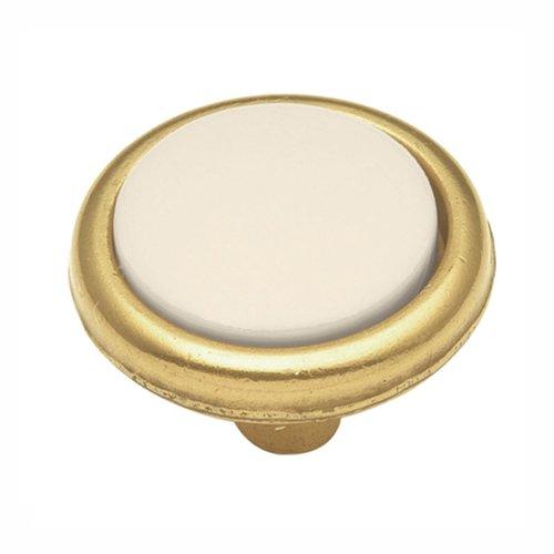 Hickory Hardware Tranquility Knob 1-1/4 inch Diameter Light Almond P225-LAD