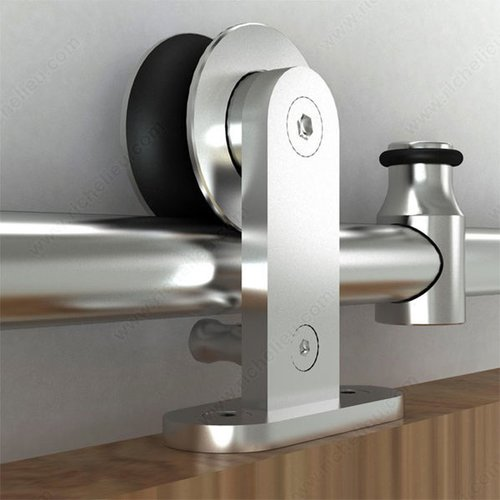 Richelieu Industrial Stainless Steel Barn Door Hardware Set 2460120SSPVC