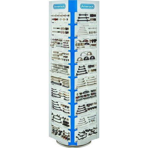 Showroom Tower - Amerock 4 Sided Display Tower-Gray TWR4SC03