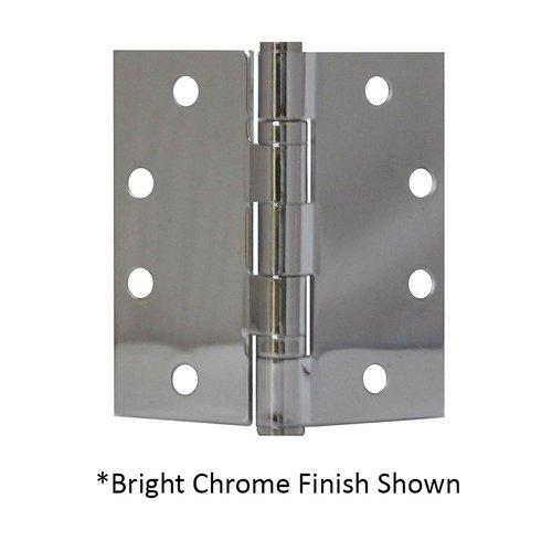 Don-Jo Full Mort. Ball Bearing Hinge 4-1/2 inch x 4-1/2 inch Satin Chrome BB74545-652