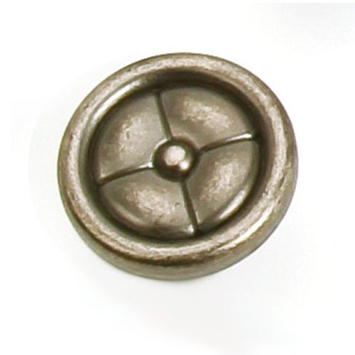 Laurey Hardware Paris 1-1/4 Inch Diameter Antique Pewter Cabinet Knob 39606