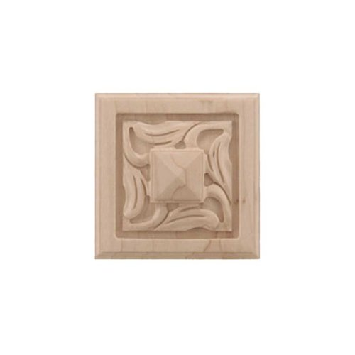 Brown Wood Small Nouveau Tile Unfinished Hard Maple 01901057HM1