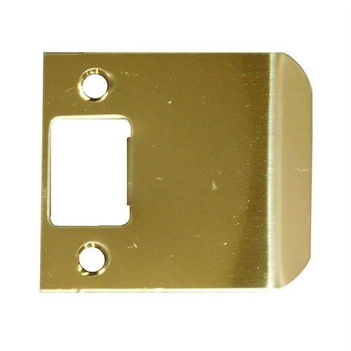 "Extended Lip Strike 2-3/4"" X 3"" Brass Plated Steel <small>(#EL-203-BP)</small>"