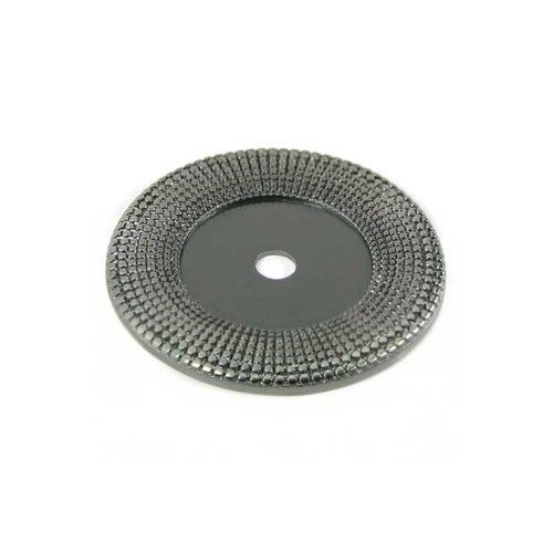 MNG Hardware Vanilla 1-9/16 Inch Diameter Satin Nickel Back-plate 16221