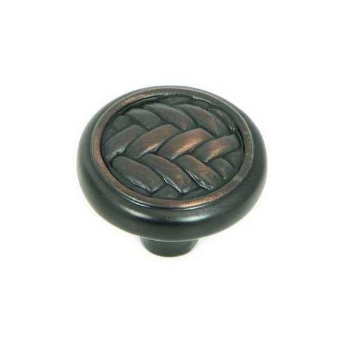 Stone Mill Hardware Harris 1-1/4 Inch Diameter Oil Rubbed Bronze Cabinet Knob CP80498-OB
