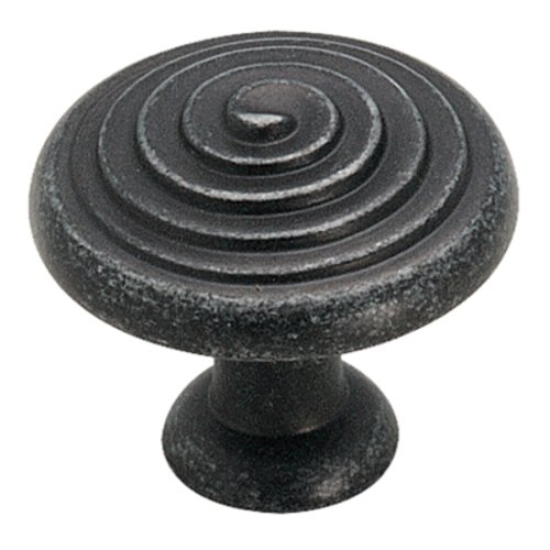 Divinity 1-1/4 Inch Diameter Wrought Iron Dark Cabinet Knob <small>(#BP19252WID)</small>