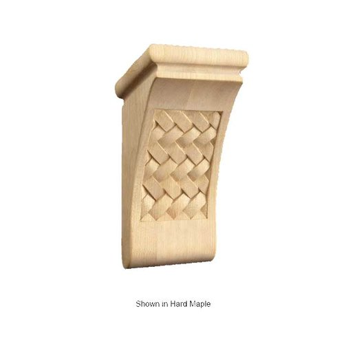 Brown Wood Small Weaved Corbel Unfinished Red Oak 01602070AK1