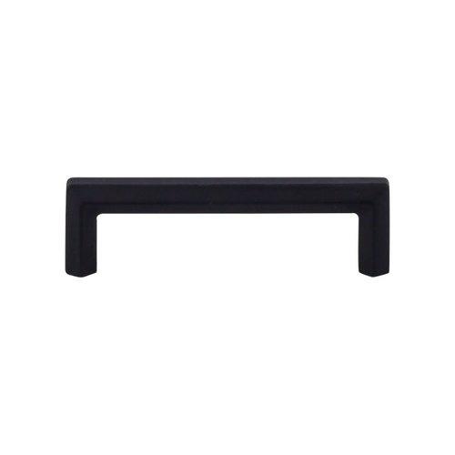 Top Knobs Serene 3-3/4 Inch Center to Center Flat Black Cabinet Pull TK793BLK