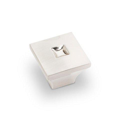 Jeffrey Alexander Modena 1 Inch Diameter Satin Nickel Cabinet Knob 910S-SN