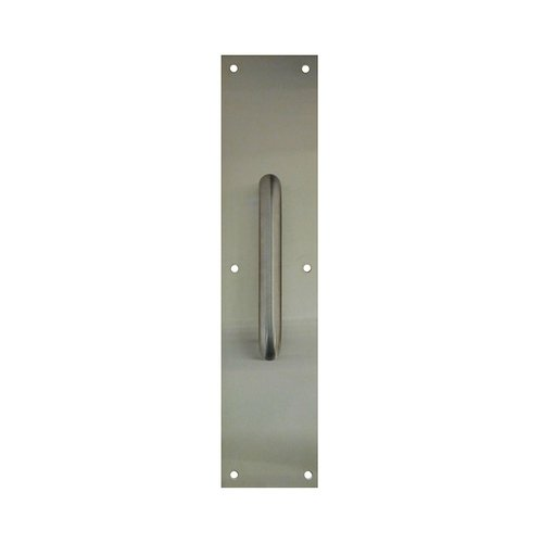 Don-Jo 4 inch x 16 inch Pull Plate with 11 inch Pull Satin Stainless 7120-630