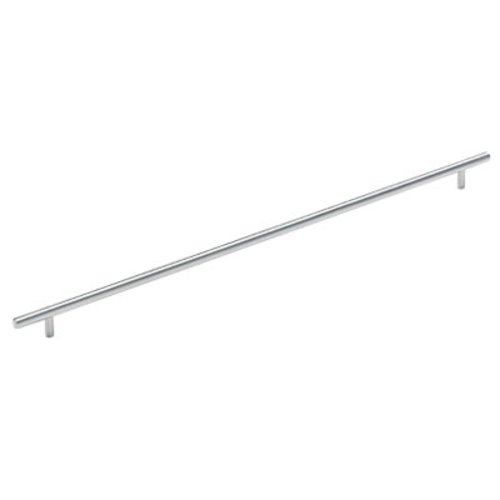 Amerock Bar Pulls 21-7/16 Inch Center to Center Sterling Nickel Cabinet Pull BP19017CSG9