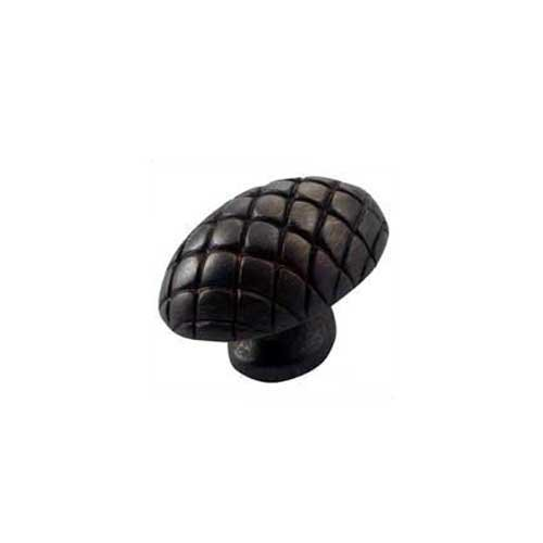 MNG Hardware Quilt 1-1/2 Inch Diameter Oil Rubbed Bronze Cabinet Knob 14913