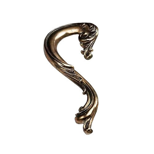 Schaub and Company French Court 3-1/2 Inch Center to Center Monticello Silver Cabinet Pull 935L MSL