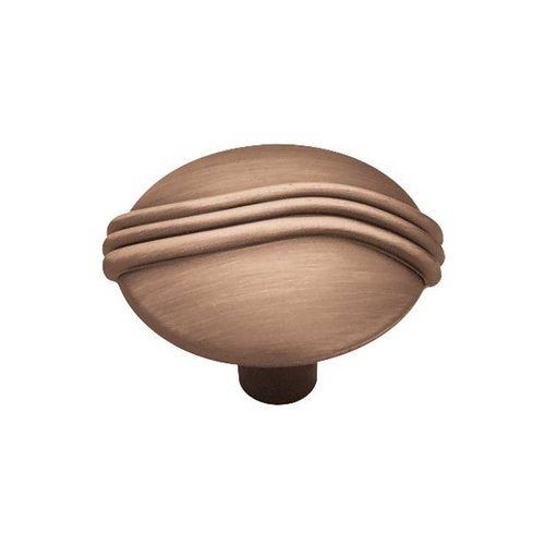 Contempo 1-3/16 Inch Diameter Brushed Antique Copper Cabinet Knob <small>(#P84302-RAL-C)</small>