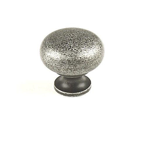 Hartford 1-1/4 Inch Diameter Aged Silver Cabinet Knob <small>(#12405-AS)</small>