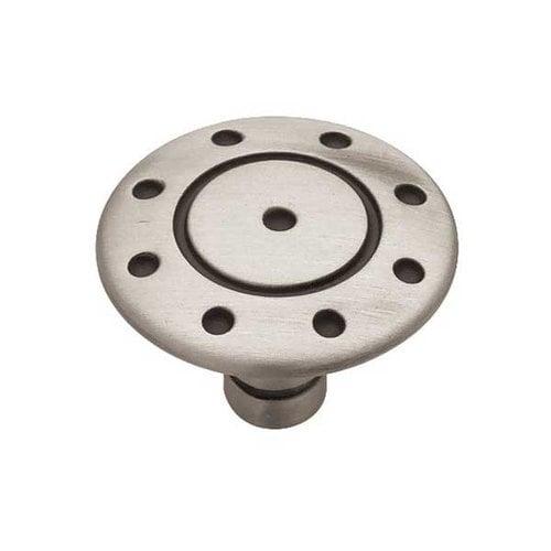 Liberty Hardware Circles & Scrolls 1-3/8 Inch Diameter Brushed Satin Pewter Cabinet Knob PBF316-BSP-C