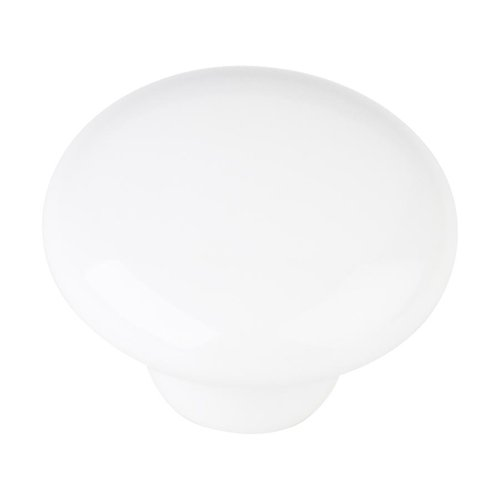 Elements by Hardware Resources Tempo 1-1/4 Inch Diameter White Ceramic Cabinet Knob 33853WH