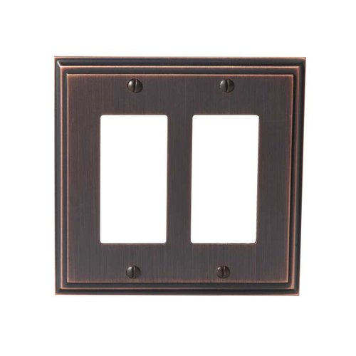 Amerock Mulholland Two Rocker Wall Plate Oil Rubbed Bronze BP36519ORB