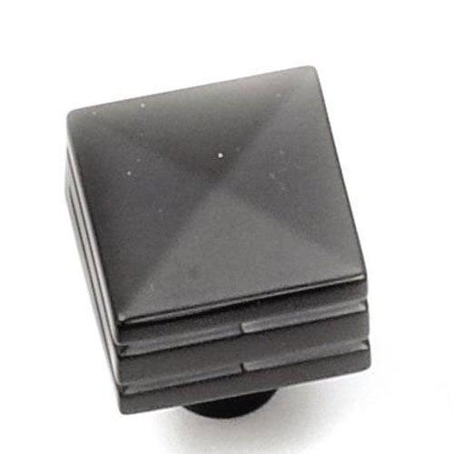 Laurey Hardware Kama 7/8 Inch Diameter Matte Black Cabinet Knob 23220