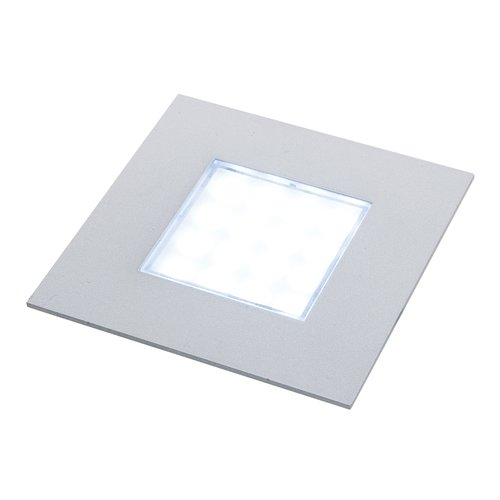 Hafele Luminoso 12V LED Recess Mount Square Spot Brushed Steel/Warm 830.64.971