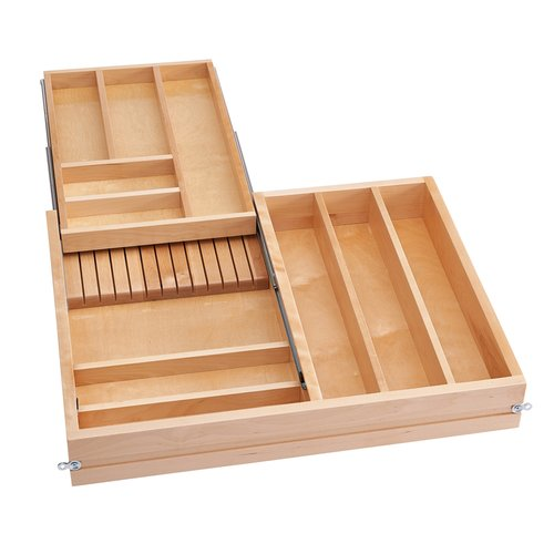 Rev-A-Shelf 4WTCD Soft Close Double Combination Drawer 36 inch W with Slides 4WTCD-36SC-1