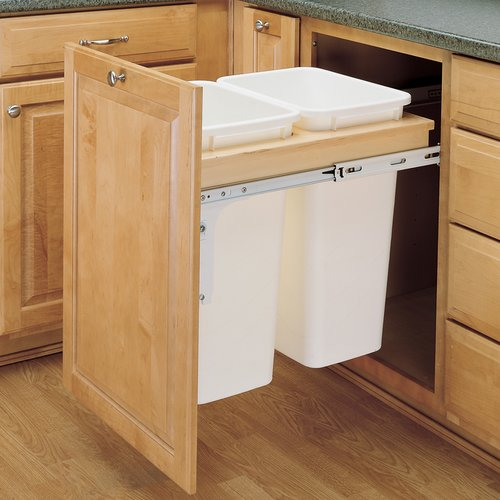Rev-A-Shelf Double Trash Pullout 35 Quart-Wood 4WCTM-21DM2
