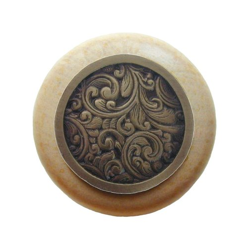 Notting Hill Classic 1-1/2 Inch Diameter Antique Brass Cabinet Knob NHW-759N-AB