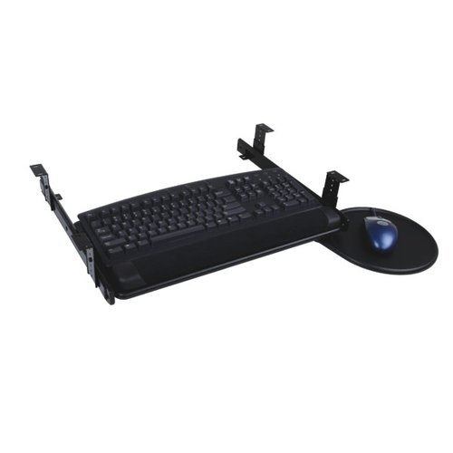 "Eclipse Keyboard Tray W/ Slide-Out Mouse 21-1/2"" W-Black <small>(#FRKSLT938BK)</small>"