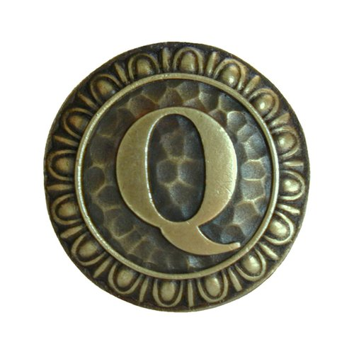 Jewel 1-3/8 Inch Diameter Antique Brass Cabinet Knob <small>(#NHK-196-AB)</small>