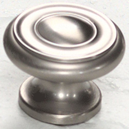 Schaub and Company Colonial 1-1/2 Inch Diameter Satin Nickel Cabinet Knob 704-15