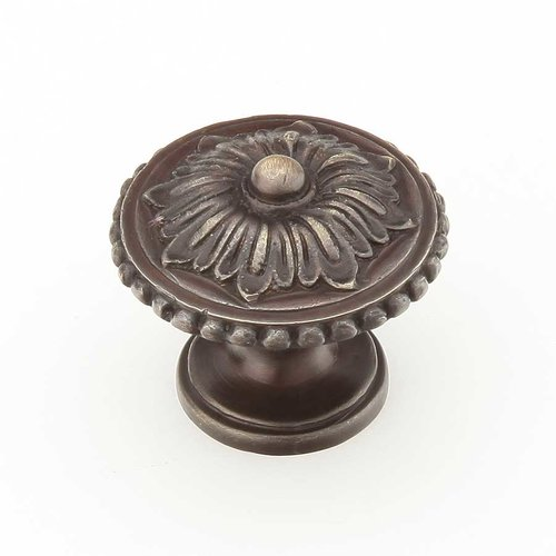 Schaub and Company Sonata 1-1/4 Inch Diameter Dark Antique Bronze Cabinet Knob 930-DAB