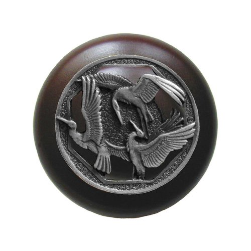 Notting Hill Arts & Crafts 1-1/2 Inch Diameter Antique Pewter Cabinet Knob NHW-737W-AP