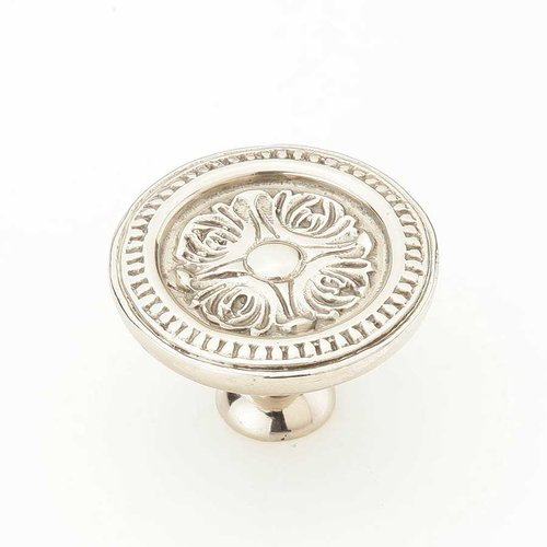 Schaub and Company Eastlake Inspirations 1-1/2 Inch Diameter White Brass Cabinet Knob 859-WB
