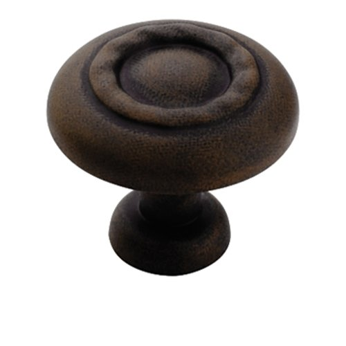 Amerock Inspirations 1-1/4 Inch Diameter Antique Rust Cabinet Knob BP1585ART