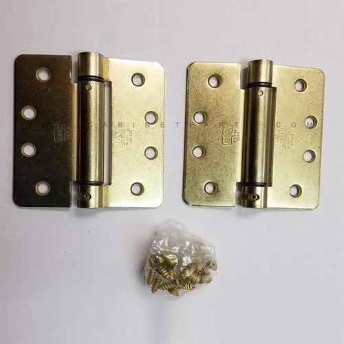 "Bommer Industries LB4311-400 1/4"" Radius Corner Single Act Spring Hinge-Brass LB4311-400-633"