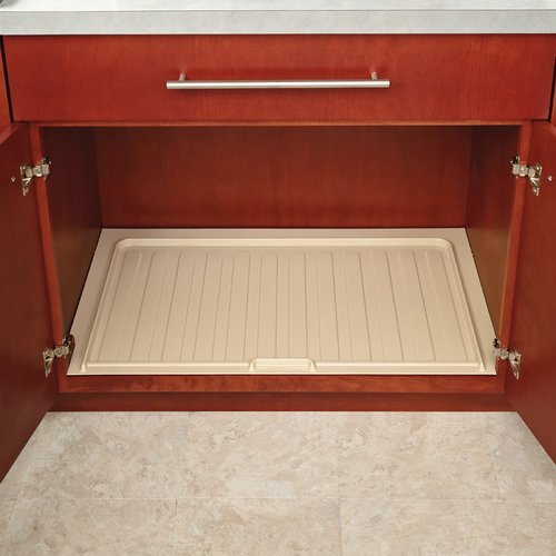 Rev-A-Shelf Vanity Drip Tray 30 inch Wide Almond SBVDT-2730-A-1