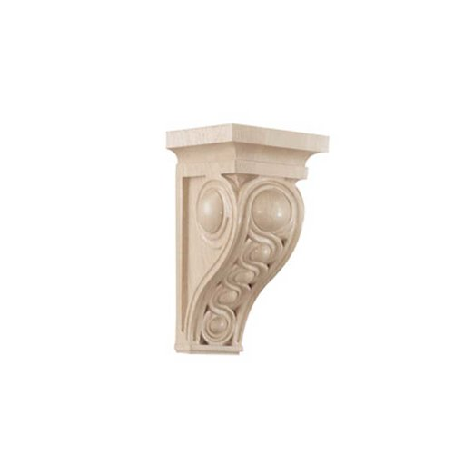 Brown Wood Small Infinity Corbel Unfinished Hard Maple 01600637HM1