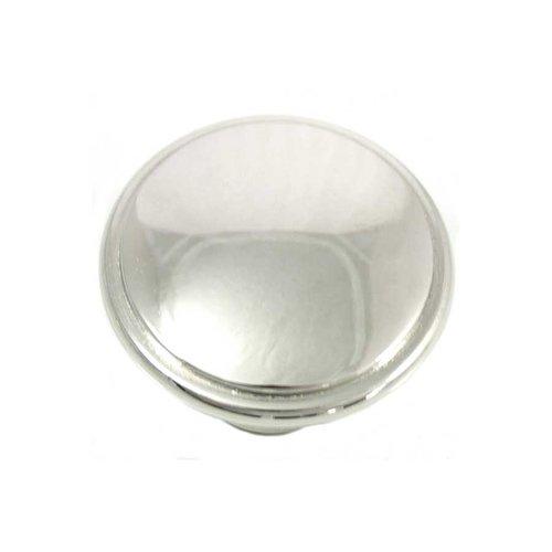 MNG Hardware Grace 1-1/4 Inch Diameter Polished Nickel Cabinet Knob 83114