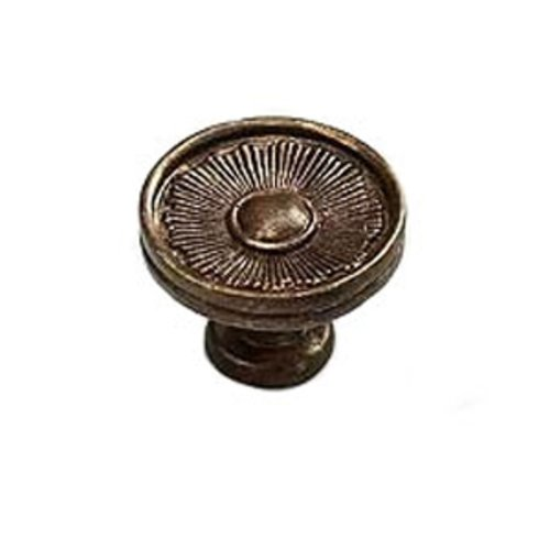 Sunburst 1-3/8 Inch Diameter Highlighted Bronze Cabinet Knob <small>(#972-HLB)</small>