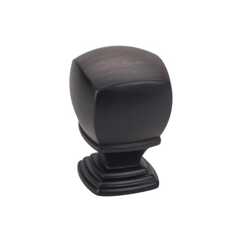 Jeffrey Alexander Katharine 1 Inch Diameter Brushed Oil Rubbed Bronze Cabinet Knob 188L-DBAC