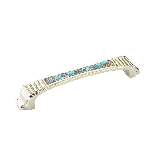 Schaub and Company Cadence 5-1/2 Inch Center to Center Imperial Shell, Polished Nickel Cabinet Pull 641-IM/PN