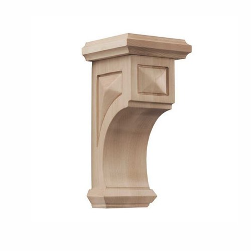 Brown Wood Pinnacle Medium Apex Corbel Unfinished Hard Maple 01607217HM1