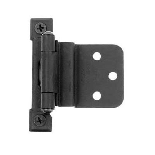 "3/8"" Inset Semi-Concealed Hinge Black Iron <small>(#AJ3BQ)</small>"