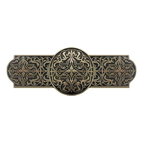 Notting Hill Olde World 3 Inch Center to Center Brite Brass Cabinet Pull NHP-670-BB
