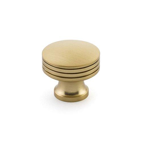 "Schaub and Company Menlo Park Round Knob 1-1/4"" Dia Signature Satin Brass 532-SSB"