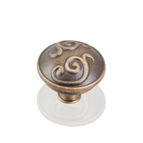 Kensington 1-3/8 Inch Diameter Antique Brushed Satin Brass Cabinet Knob <small>(#531ABSB)</small>