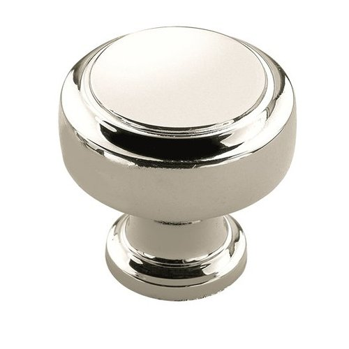 Highland Ridge 1-1/8 Inch Diameter Polished Nickel Cabinet Knob <small>(#BP55312PN)</small>