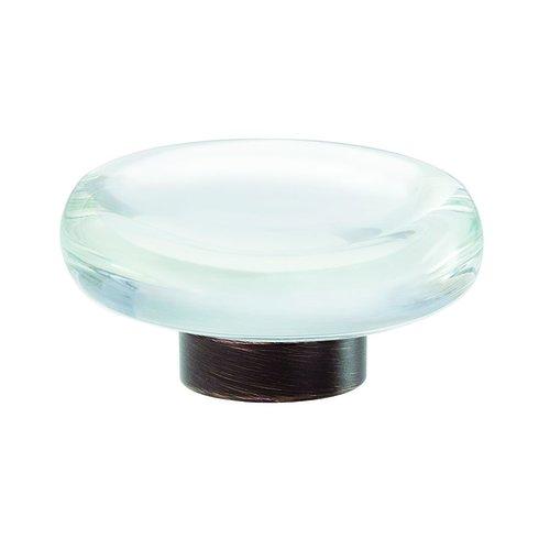 "Amerock Glacio Knob 1-3/4"" Dia Clear Crystal/Oil Rubbed Bronze BP36652CORB"