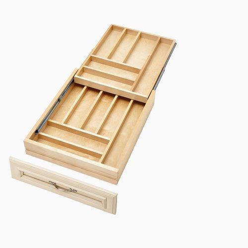 Rev-A-Shelf 4WTCD Soft Close Double Cutlery Drawer for 21 inch Cabinet 4WTCD-21SC-1