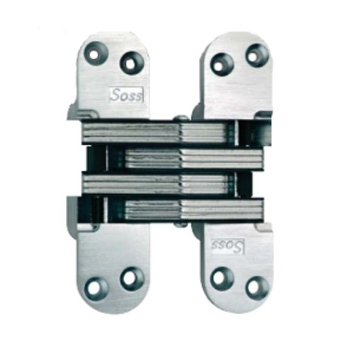 Soss #220 Invisible Spring Closer Hinge Bright Nickel 220ICUS14